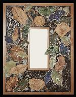 Blue Leaf Handcrafted Square Mirror