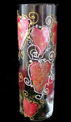 Hand Painted Glass Vase