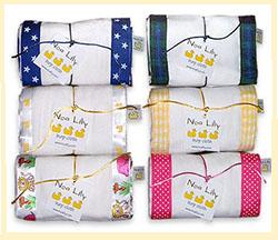 100% Cotton Burp Cloths from Noa Lily