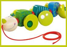 "HABA USA's ""Cory Caterpillar"" Pulling Toy"