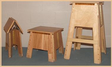 Folding Wooden Stools, Pedestals & Lecterns