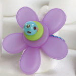 Purple Petal Pusher Ring from Freckles, Buttons, & Beads