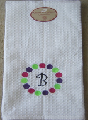 Polka-Dot Initialed Hand Towel