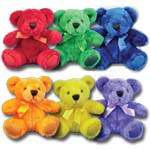 6 Colorful Bears From Plush In A Rush