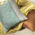 Rayon and Cotton Contemporary Pillows