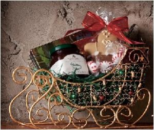 Holiday Themed Gift Basket