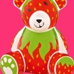 Strawberry Designed Teddy Bear Bank