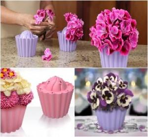 Delicious Cupcake Vase