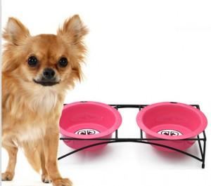 Modern Diner Stand Dog Bowl
