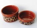 Leopard Dog Bowls