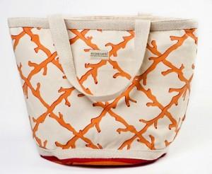 Coral Lattice Handbag