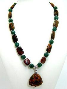 Green Opal Jasper Necklace