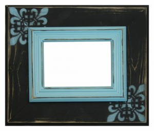 Black & Aqua Colored Frame