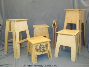 Wooden Folding Stools