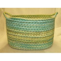 Blue & Green Oval Hamper
