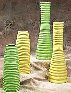 Yellow & Green Vases