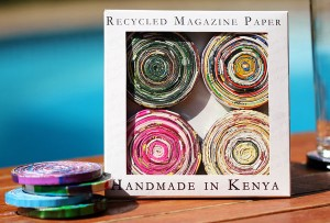 Recycled Magazine Paper Coasters