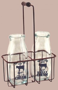 Vintage Glass Cream Bottles