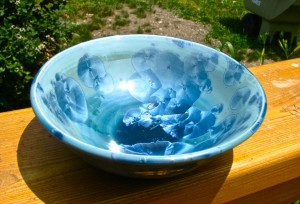 Blue Crystalline Bowl