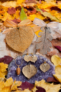 The Rocky Mountain Leaf Company uses real Aspen leaves and cones in its jewelry!