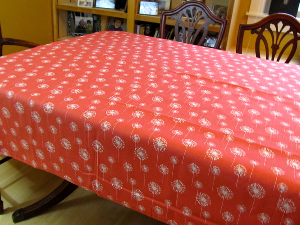 Dandelion and Coral Table Cloth