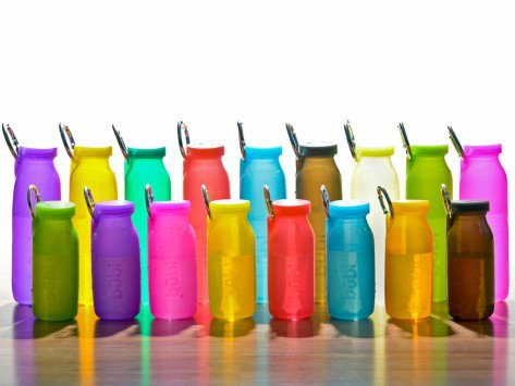The Bübi Bottle comes in a large variety of color and size options.
