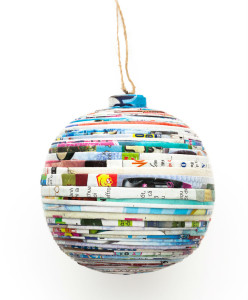 Recycled Paper Large Ball Ornament