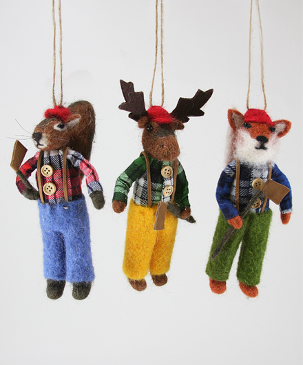 Lumberjack Ornaments