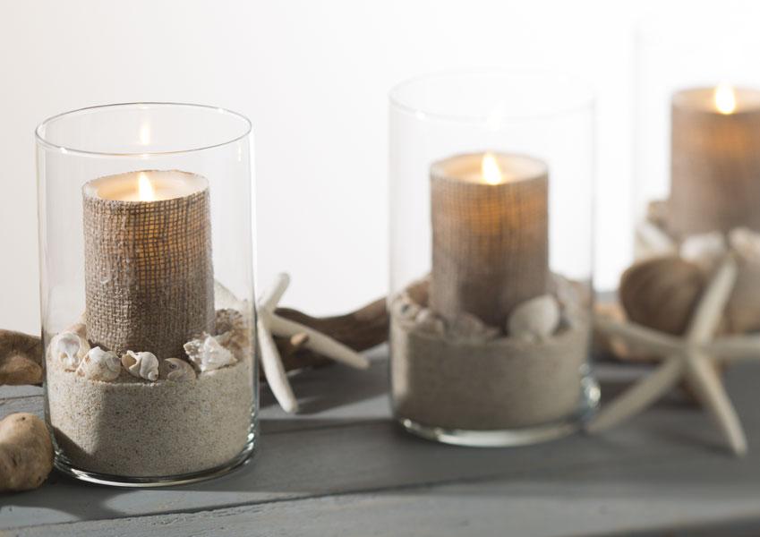 Burlap Candles