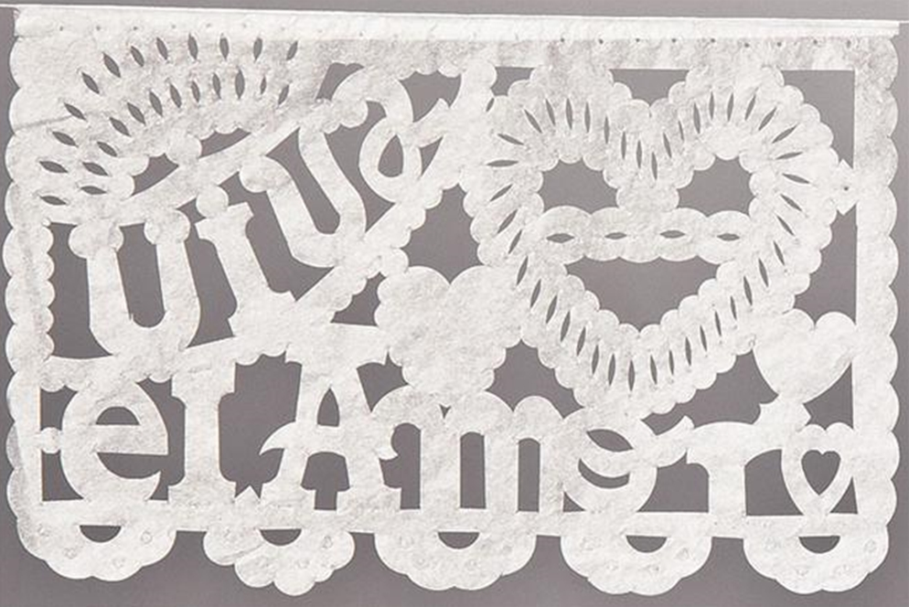 White Mexican Wedding Banner