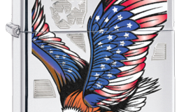 Eagle Flag HP Chrome Zippo