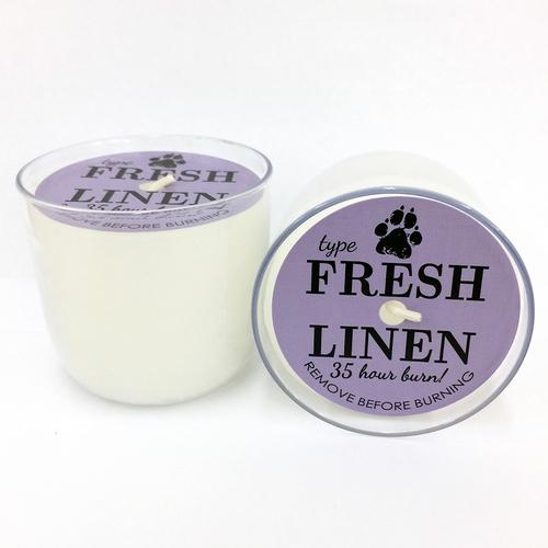 La Fresh Candle Fresh Linen Scent