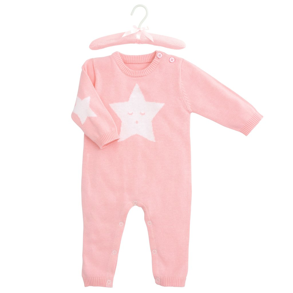 Pink Star Knit Jumpsuit