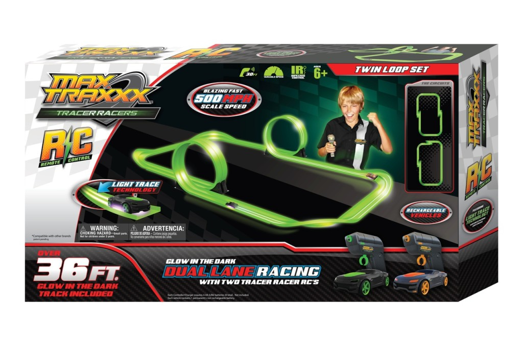 Max Traxxx Tracer Racers Remote Control Twin Loop Set