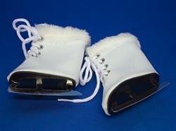 Ice Skates with Fur Trim