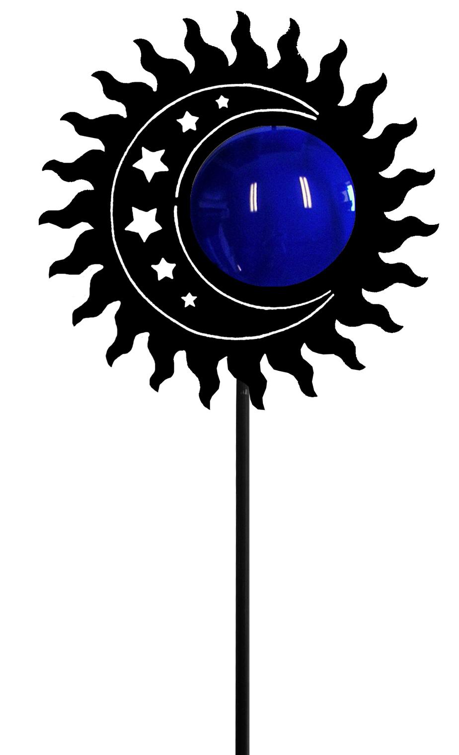 Sun-Moon Garden Stake