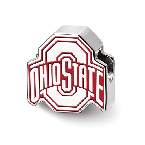 Ohio State University Enameled Bead