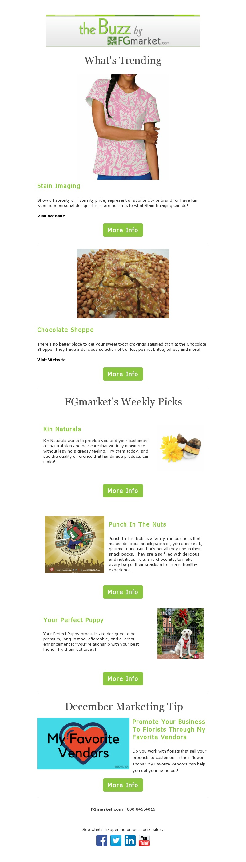 FGmarket December Newsletter: A Punch In The Nuts and My Favorite Vendors