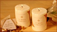 Scented All natural pillar candles, hand-poured, beautiful texture